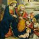 La Natività (particolare), polittico di Defendente Ferrari nella precettoria di Sant'Antonio di Ranverso, a Buttigliera Alta