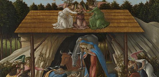 """""""Natività mistica"""", Sandro Botticelli, National Gallery, Londra"""