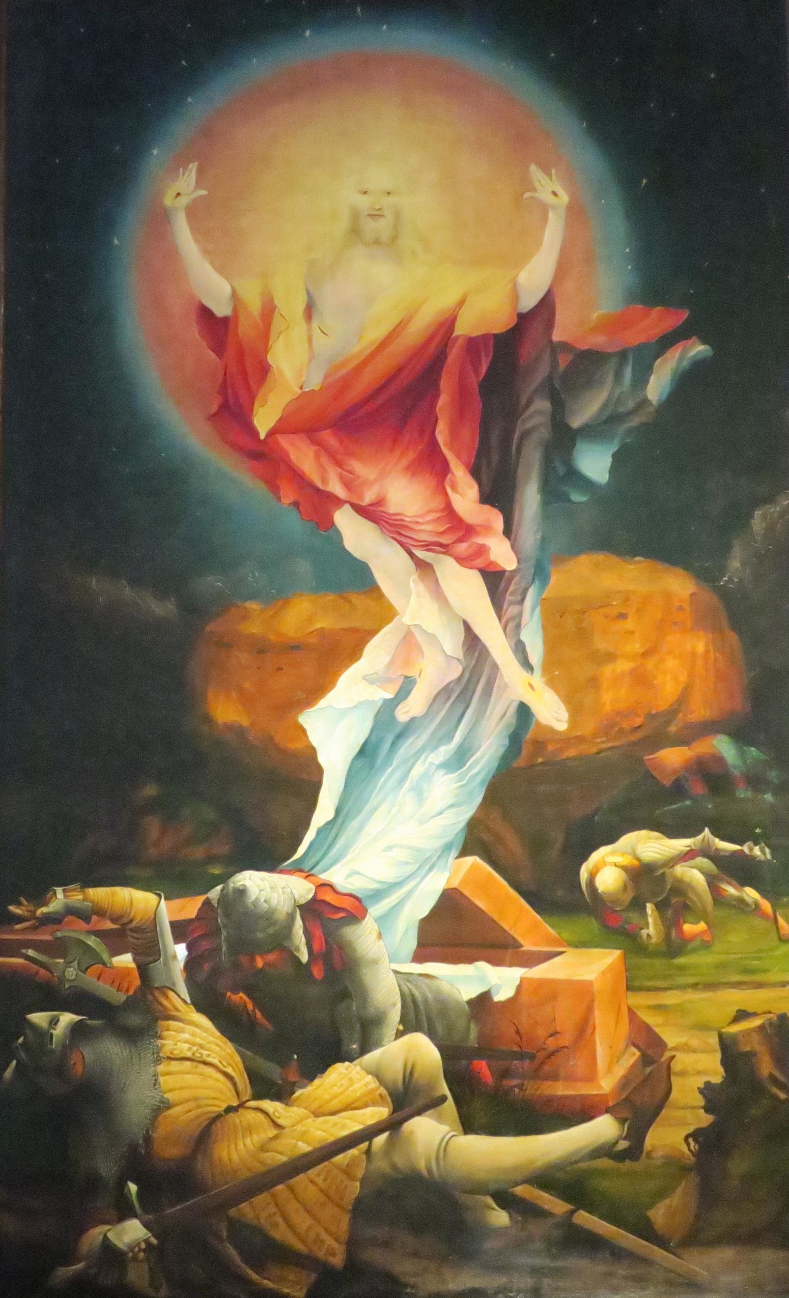 Matthias Grünewald, La Resurrezione, Altare di Isenheim, Musée d'Unterlinden, Colmar, Francia